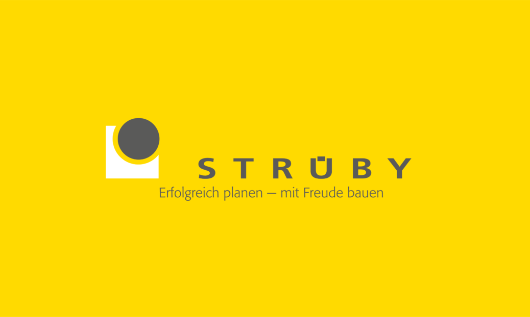 Strüby Logo auf Gelb