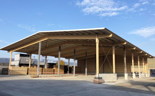 osef Wyss AG, Holzlagerüberdachung, Büron