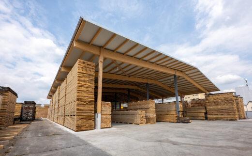 Josef Wyss AG, Holzlagerüberdachung, Büron