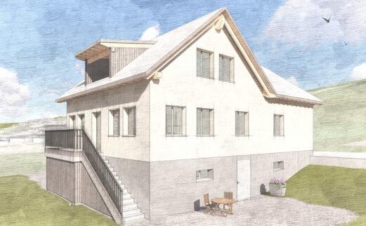 Ersatzneubau Einfamilienhaus mit Einliegerwohnung, Männedorf