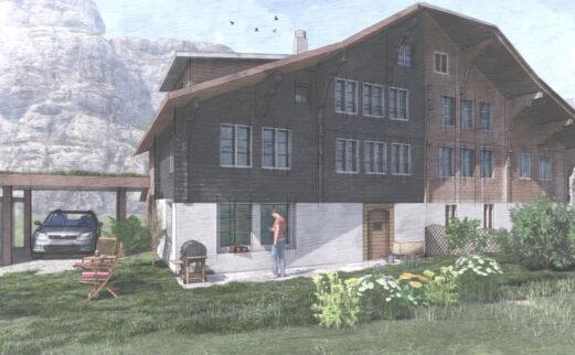 Umbau Doppeleinfamilienhaus, Meiringen