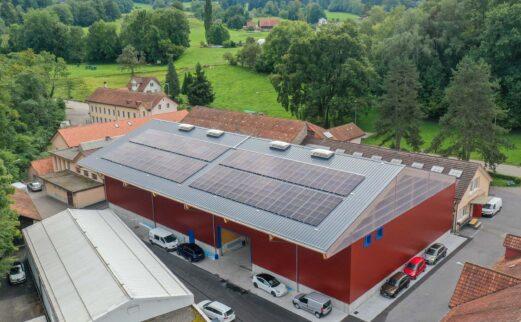 Pilgerareal AG, Ersatzneubau Lagerhalle, Rüti