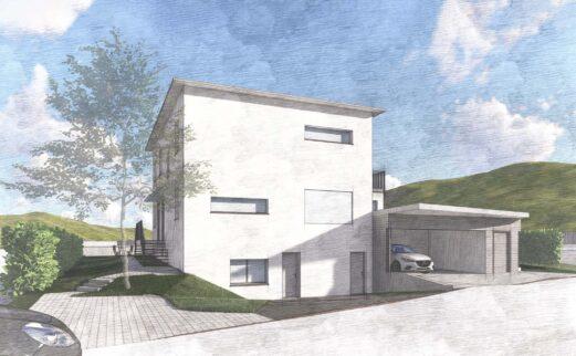 Umbau/Aufstockung Einfamilienhaus mit Einliegerwohnung, Unterägeri