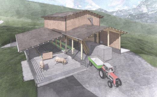 An- und Umbau Mutterkuhstall mit Futterlager, Galgenen