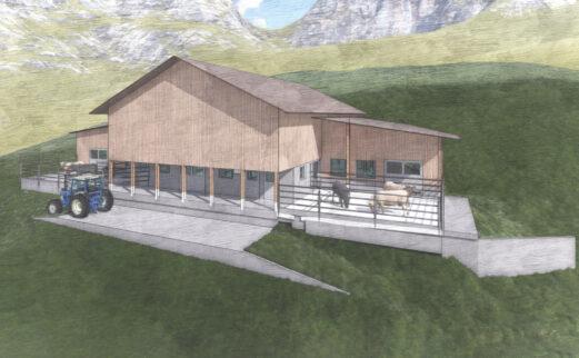 An- und Umbau Mutterkuhstall, Isenthal